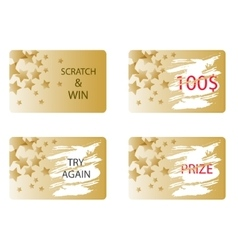 Scratch and win a prize card vector image