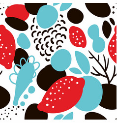 Seamless pattern in abstract style vector