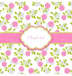 Seamless wallpaper pattern with roses greeting ca vector image