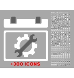 Service day icon vector