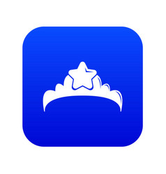small princess crown icon blue vector image