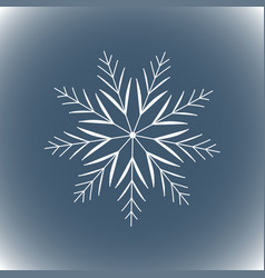 snowflake simple line logo winter isolate icon vector image