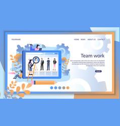 social media resume profile recruit search online vector image