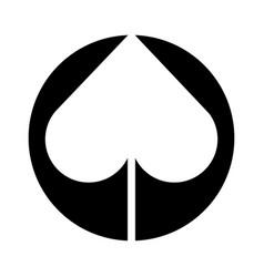 spade poker symbol icon vector image