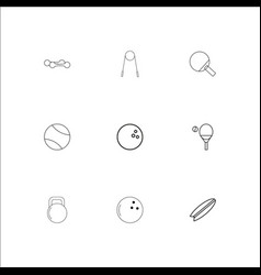 Sport and recreation outline icons set vector