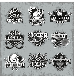 Sports And Competitions Retro Style Logos vector