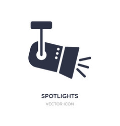 spotlights icon on white background simple vector image