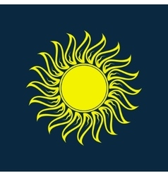 Sun icon Sun logo Summer design vector