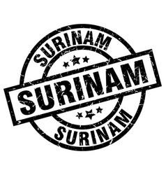Surinam black round grunge stamp vector