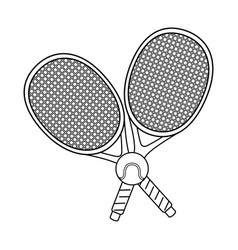 tennis ball and rackets vector image