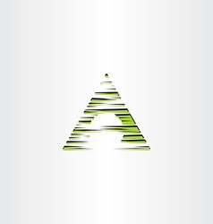 Triangle a letter logo icon symbol element vector