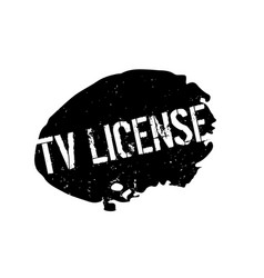 Tv license rubber stamp vector