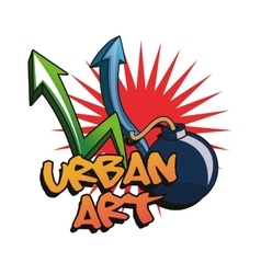 Urban art and graffiti design vector