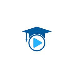 Video education logo icon design vector