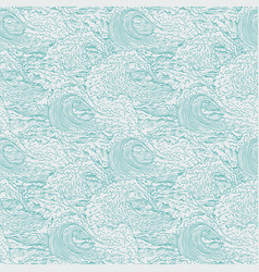 Waves sea ocean seamless background pattern vector