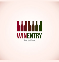 wine logo design template wineglass icon vector image