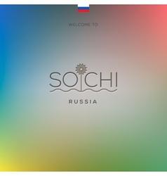 world cities - sochi banner vector image