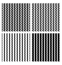 Zig zag wavy lines seamless monochrome pattern vector
