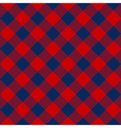 Blue red check diagonal textile seamless pattern vector image vector image