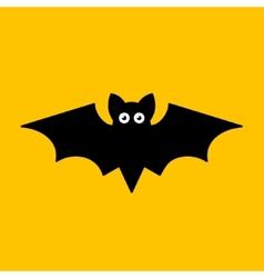 Cartoon Bat on Orange Background vector image vector image