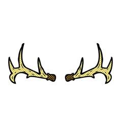 Comic cartoon antlers vector