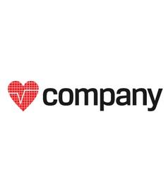 heart beats logo vector image vector image