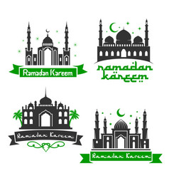 icons for ramadan kareem holiday greetings vector image vector image
