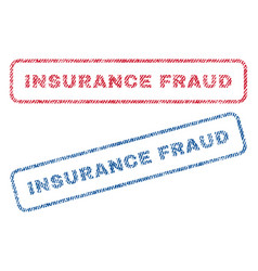 insurance fraud textile stamps vector image