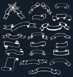 Set ribbons hand-drawn vector image