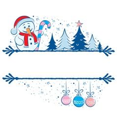snowman frame vector image vector image