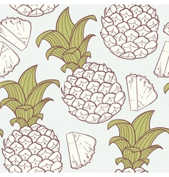 Stylized outline seamless pattern vector image vector image