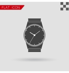 Watch logo concept Flat Style vector image vector image