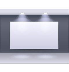 art gallery frame design with spotlights vector image