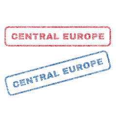 central europe textile stamps vector image
