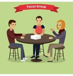 Focus Group Concept vector image vector image