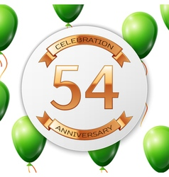 Golden number fifty four years anniversary vector