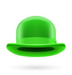 Green bowler hat vector image vector image