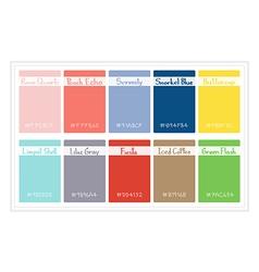 Palette Colors 2016 vector image
