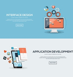Flat design concept 2 vector image vector image