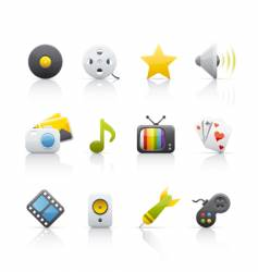 icon set entertainment vector image vector image