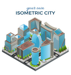 isometric modern cityscape template vector image vector image