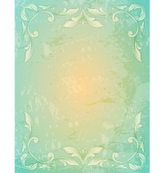 Ornamental lace patternand and grungy background vector image