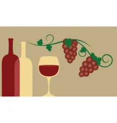 red wine and grape vector image vector image