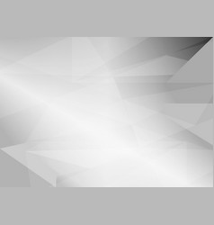 abstract gray triangular background with copy vector image vector image