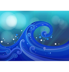 An artwork with waves vector image vector image