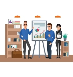 Business professional talking discussing in vector image