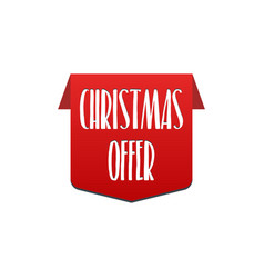 christmas offer special offer best price label vector image vector image
