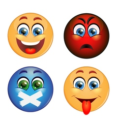 Set of different emotions vector image vector image