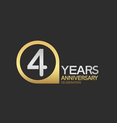 4 years anniversary celebration simple design vector