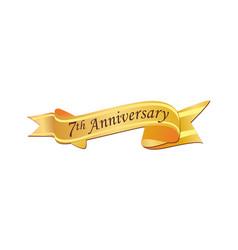 7th anniversary logo vector